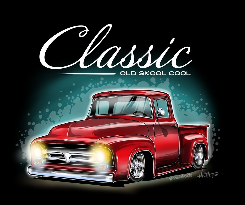 Image of 1956 Classic ol Skool f100% Red