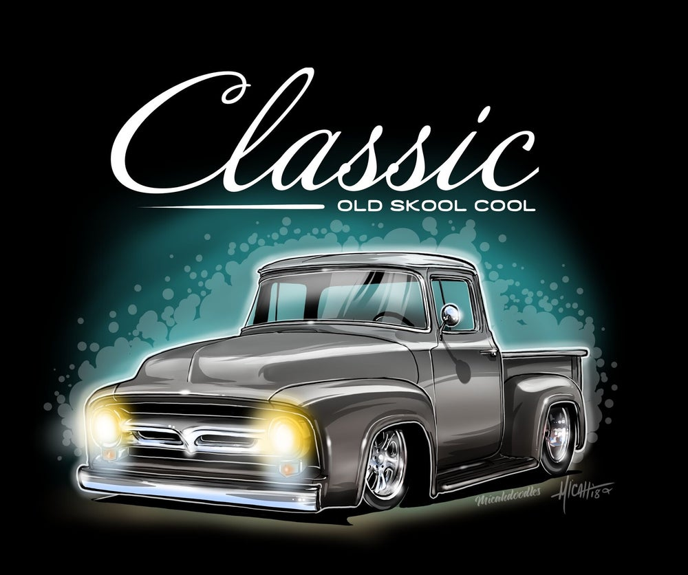 Image of 1956 Classic Ol Skool f100% Grey