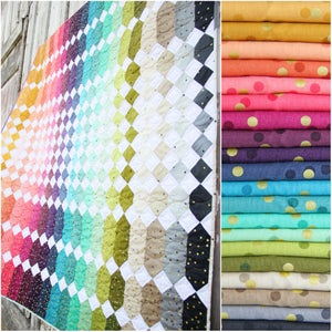 Image of Abacus Ombre Confetti Fabric Bundle with PDF pattern