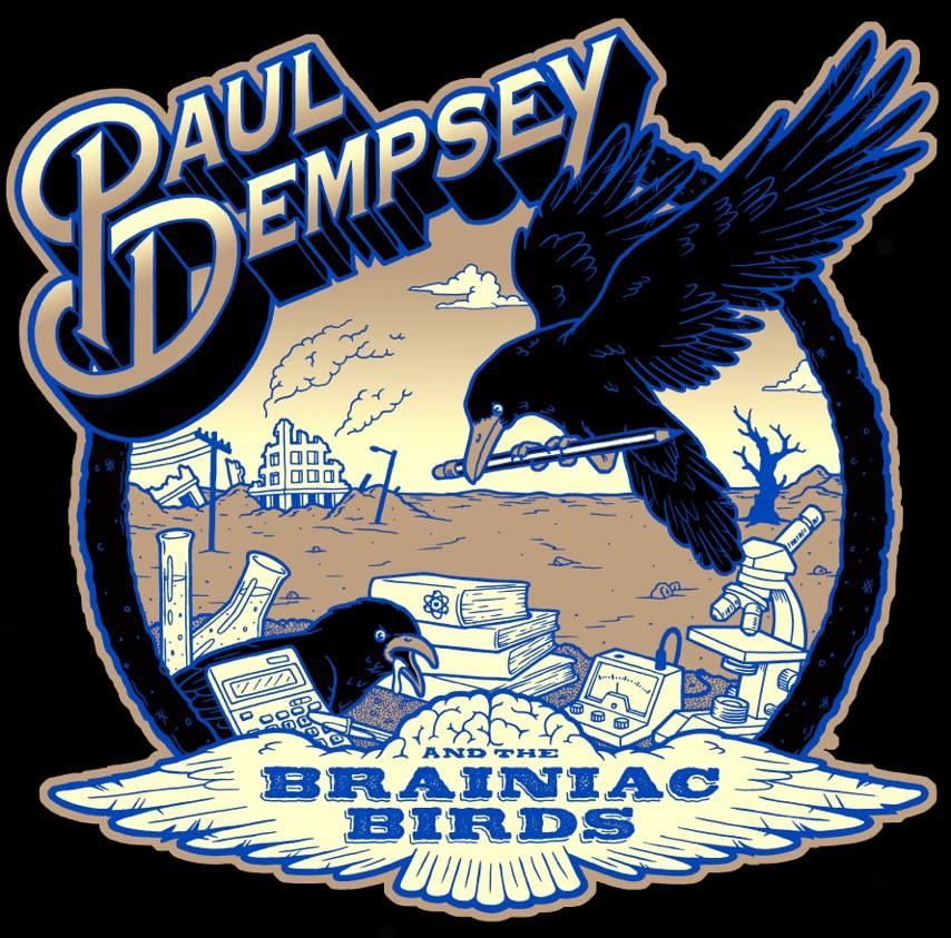 Image of Paul Dempsey Brainiac Birds t-shirt (black)