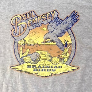 Image of Paul Dempsey Brainiac Birds t-shirt on grey marle