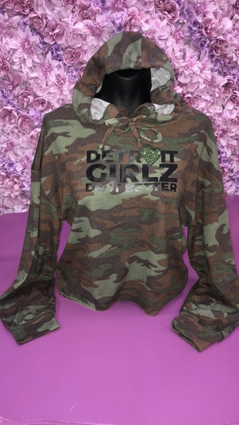 Image of The army crop hoodie