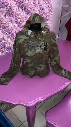 Image of The army crop hoodie