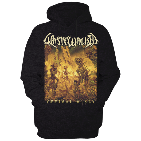 Image of Funeral Winds album art hoodie