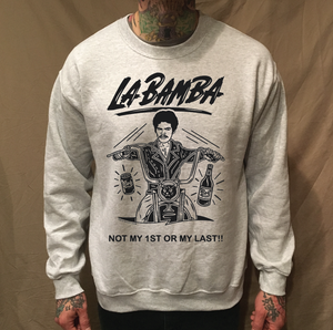 Image of LA BAMBA BIKER BOB GREY SWEATER