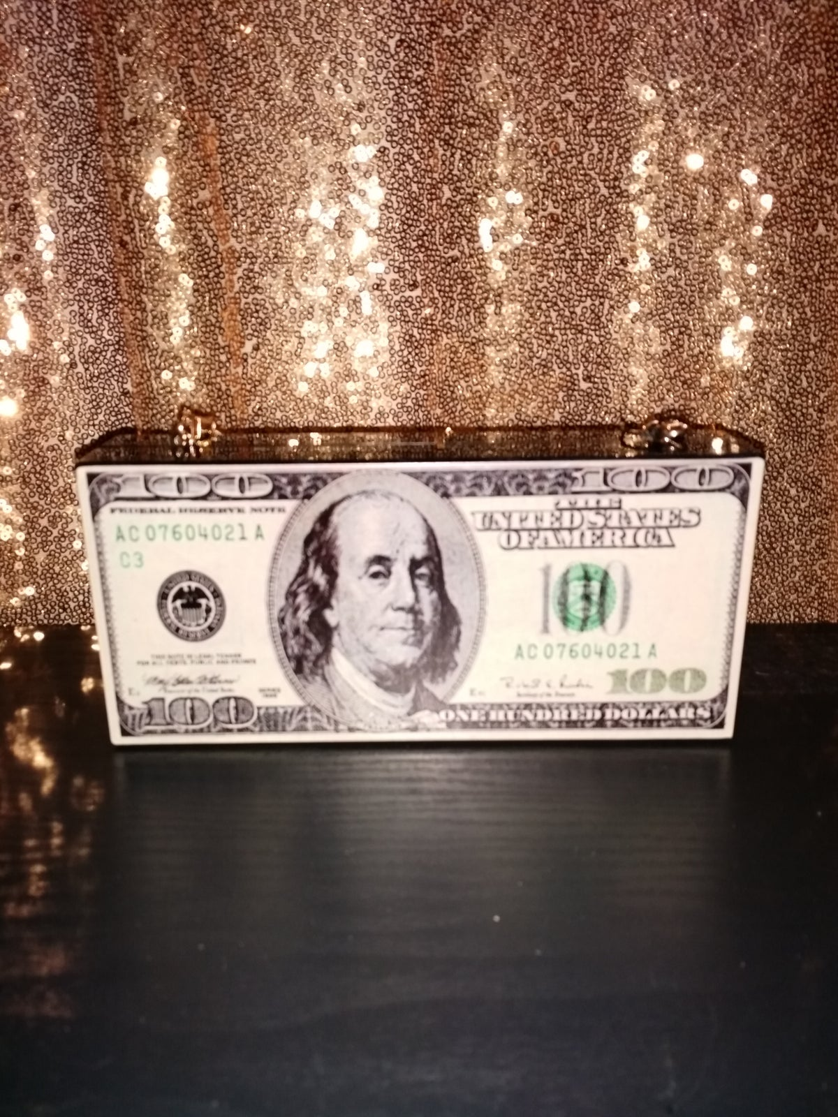 Image of 100 Dollar Bill Clutch