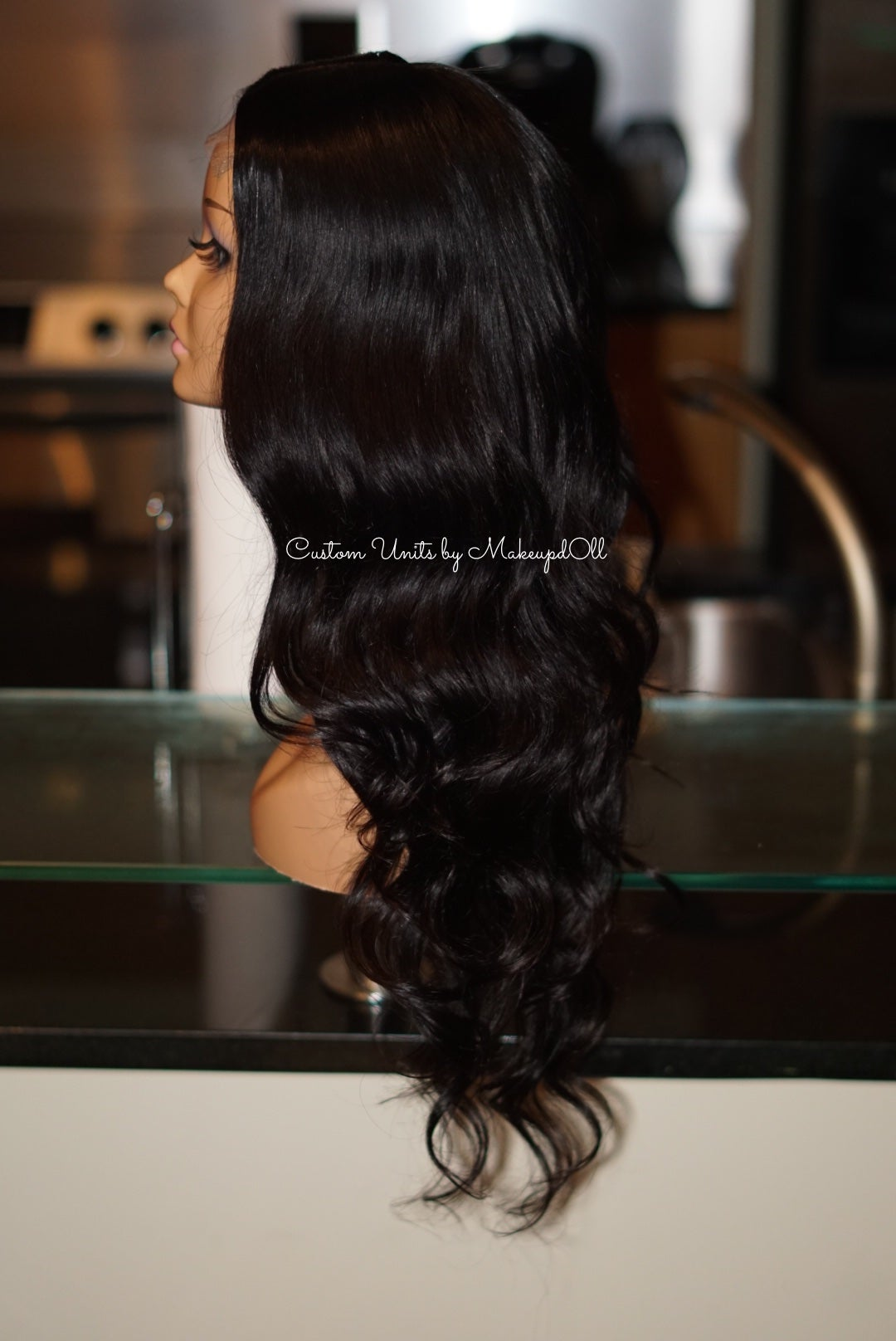 "Image of Peruvian Body Wave 24"" Custom Closure Wig!"