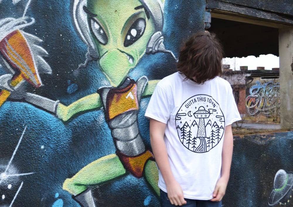 Image of UFO Circle T-shirt White