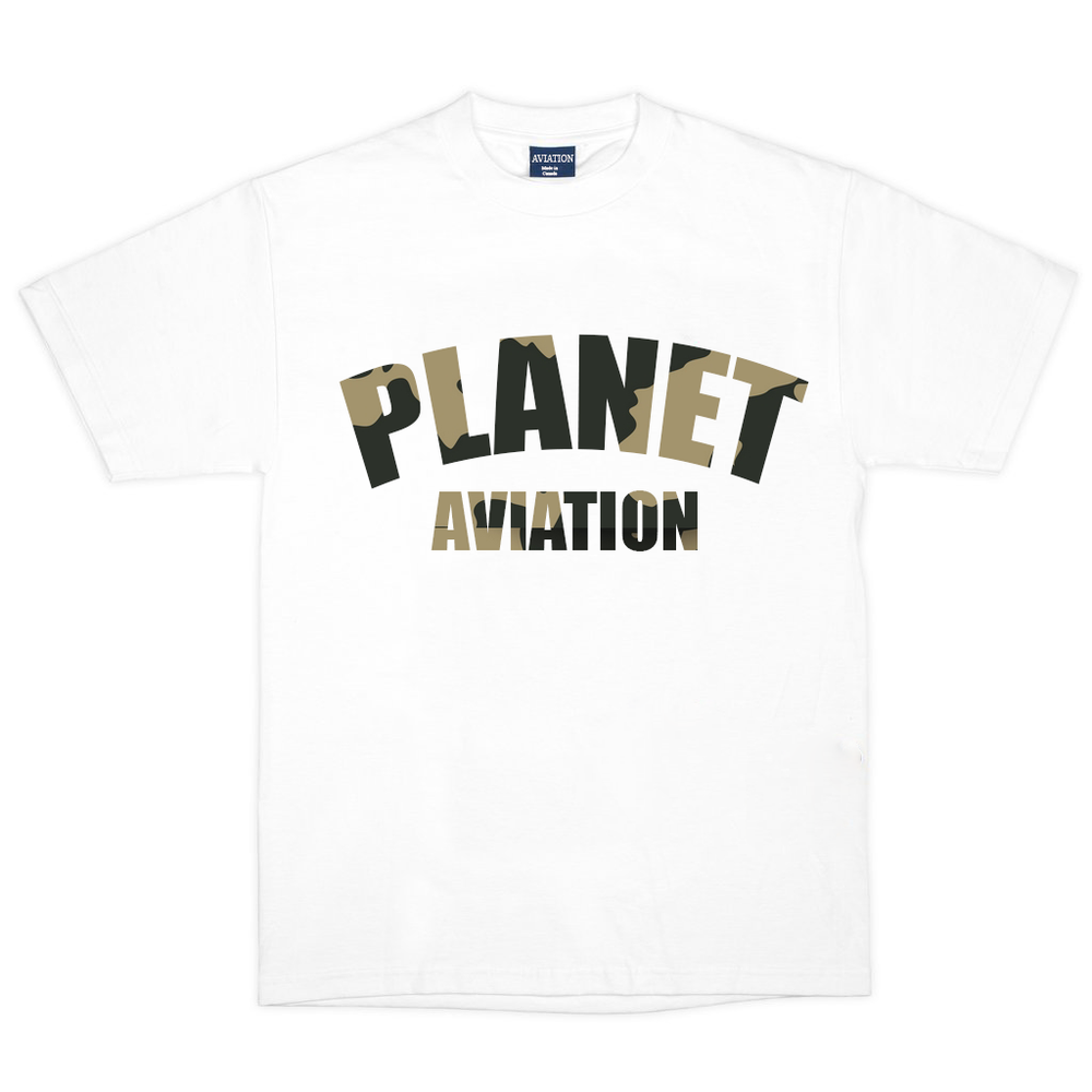"Image of Aviation ""2 Year Anniversary"" Tee (White/Camo)"