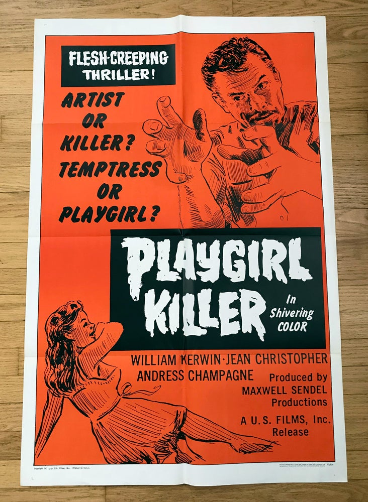 Image of 1967 PLAYGIRL KILLER Original U.S. One Sheet Movie Poster