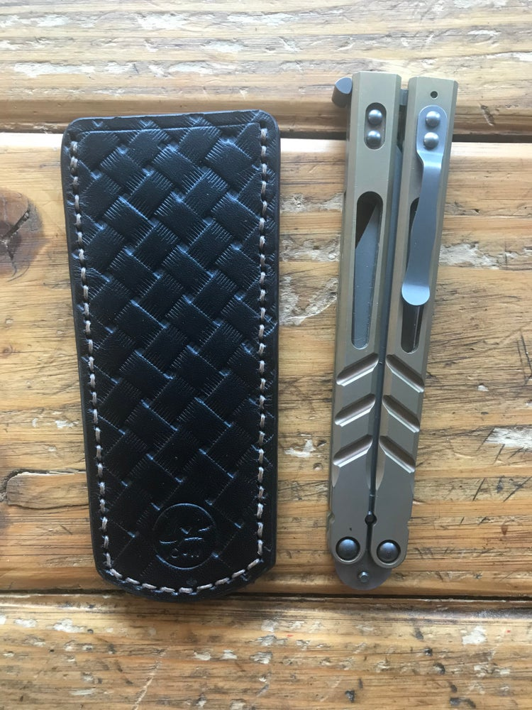"Image of ""Anointed Knight"" Balisong Sheath/Pocket Slip"