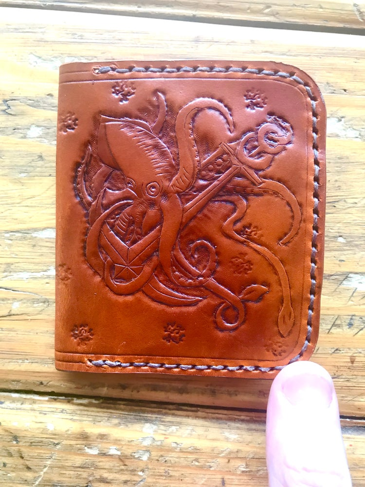 "Image of ""Kraken"" Exclusive Four Card Slot Bi-Fold Wallet"