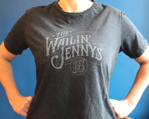 Image of Women's T-shirt - The Wailin' Jennys '15' - Faded wash