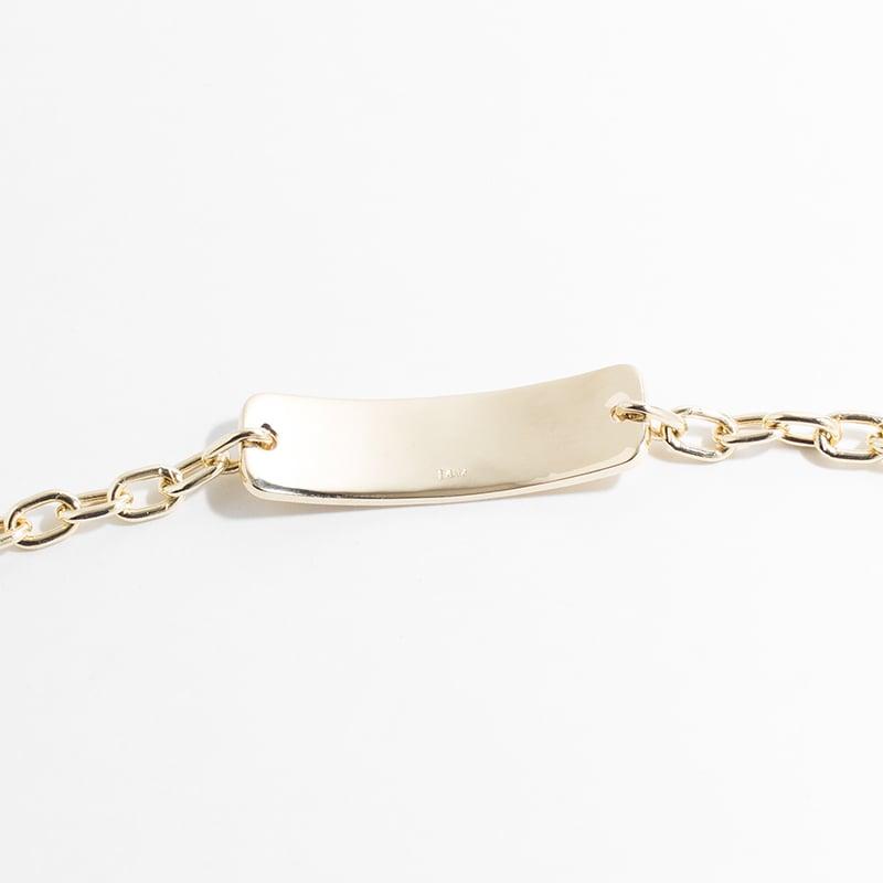 Image of WINNOW Solid 14k Gold Engraved Medical ID Bracelet