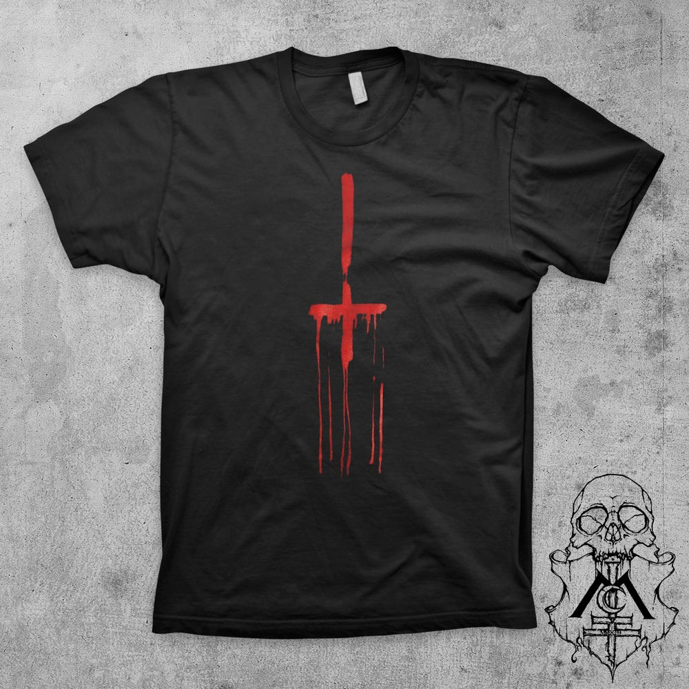 "Image of ""Taste The Blood"" BLACK Uni-Sex Tee"