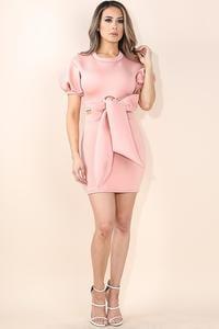 Image of Puff sleeve skirt set