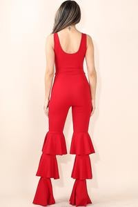 Image of Chain ruffled jumpsuit