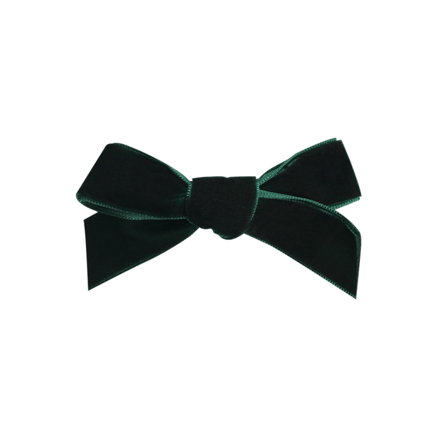 Image of Hunter French Velvet Petit Bow Clip