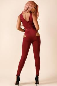 Image of Cut out top and legging set