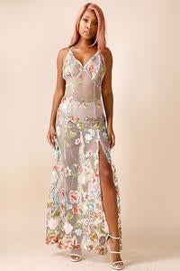 Image of 24k embroidered lace gown