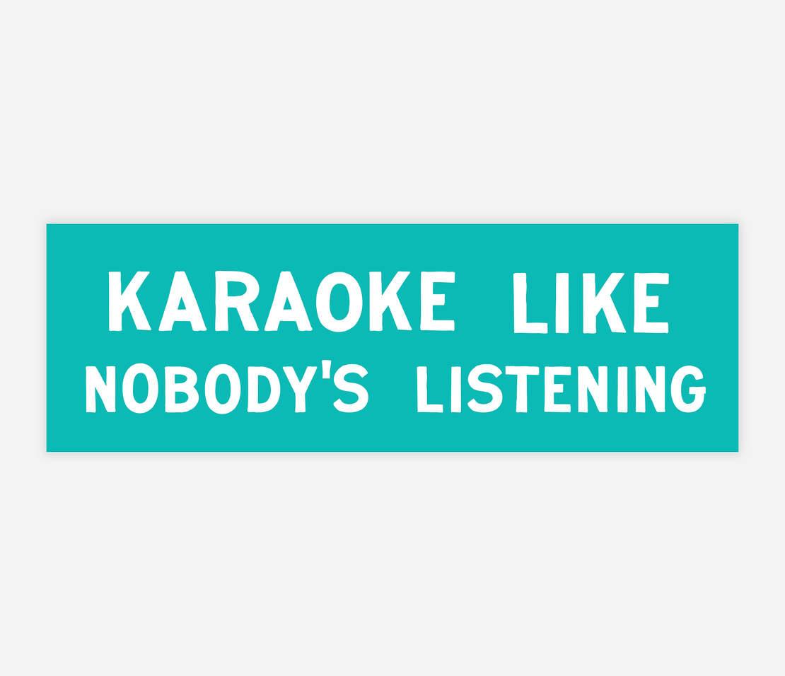 Image of NOBODY'S LISTENING