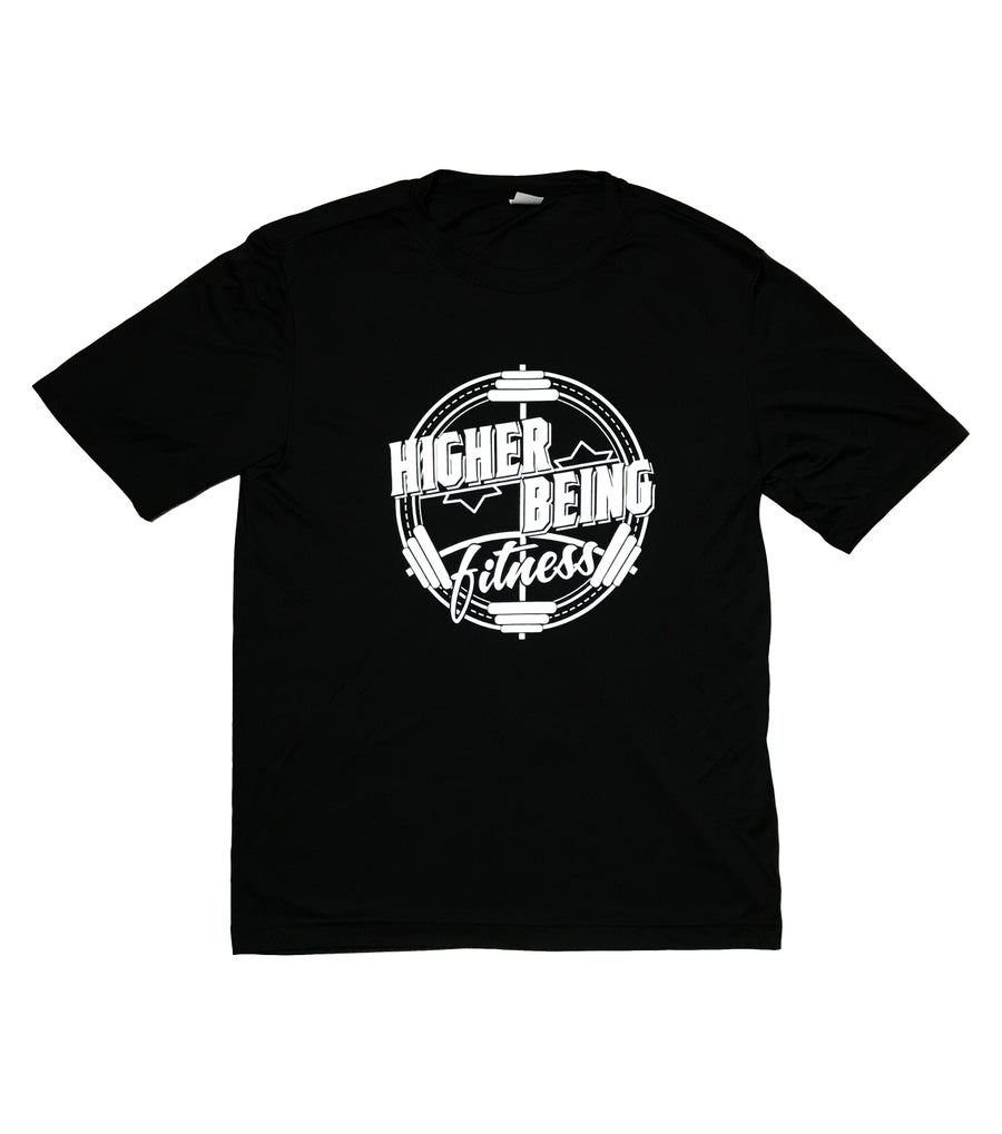 Image of Black Higher Being Performance Tee.