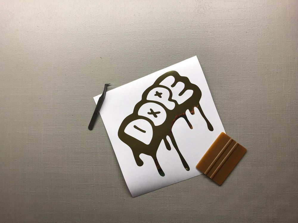 """Image of """"Dope"""" decal 5x5"""