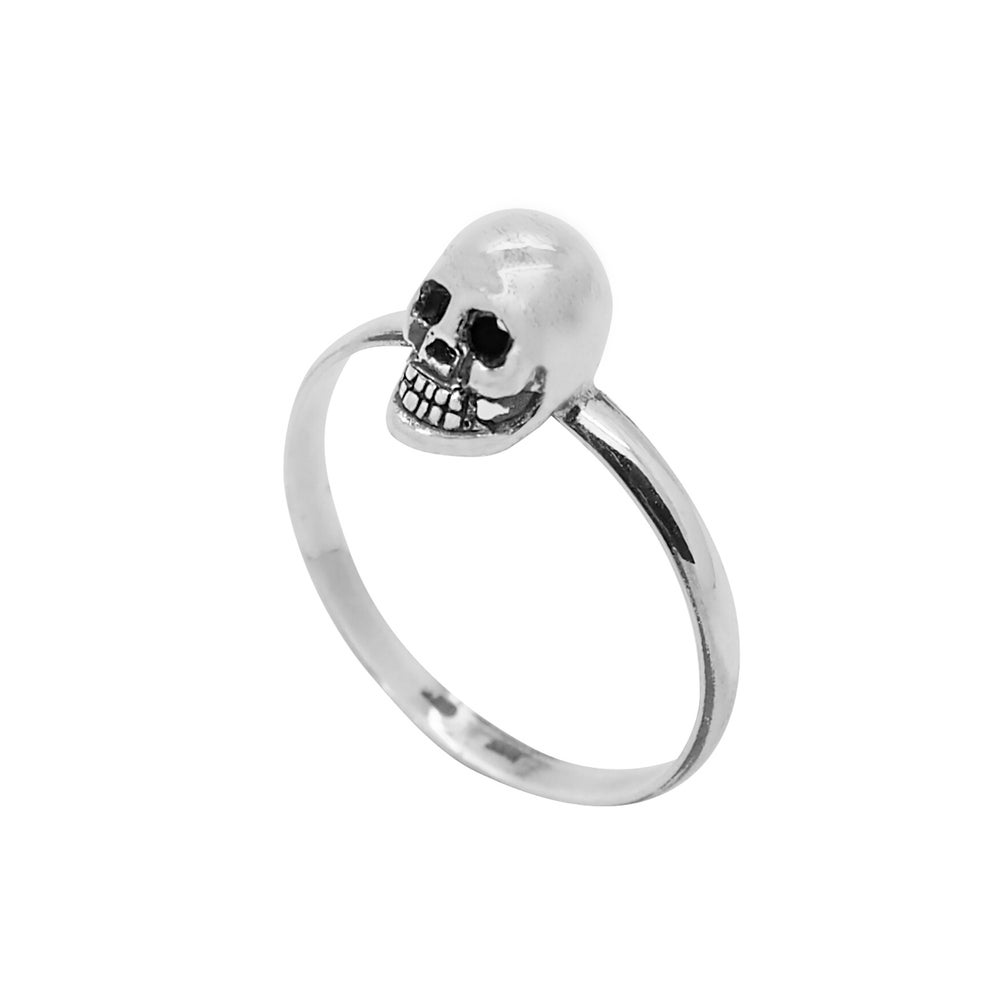 Image of Sterling Silver Skull Stacking Ring