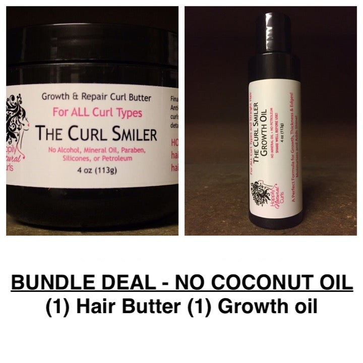Image of BUNDLE - NO COCONUT OIL - (1) Hair Butter + (1) Growth Oil