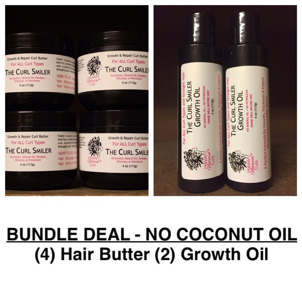 Image of BUNDLE - NO COCONUT OIL - (4) Hair Butter + (2) Growth Oil