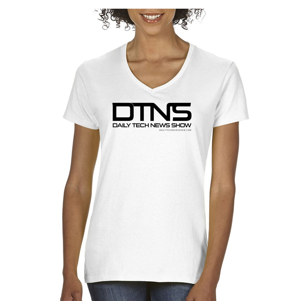 Image of DTNS Ladies V Neck Tee Shirt
