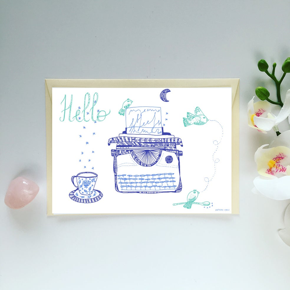 Image of Greeting Card *Hello*