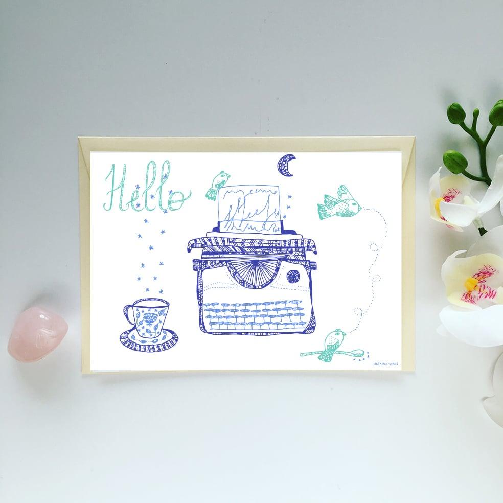 Image of Postcard *Hello*