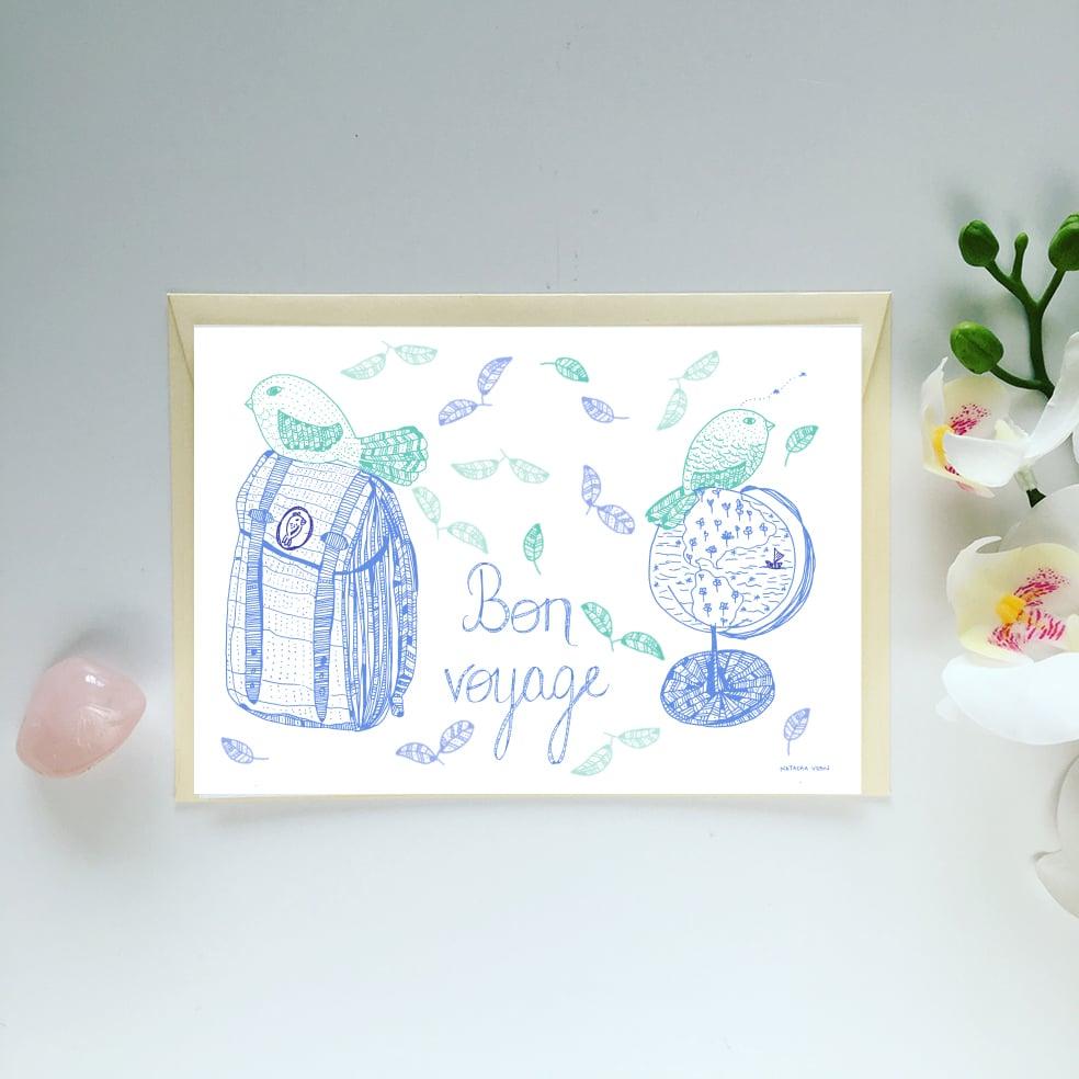 Image of Greeting Card *Bon voyage*