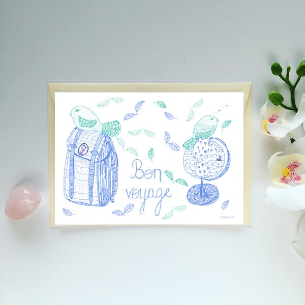 Image of Greeting Card *Bon voyage*