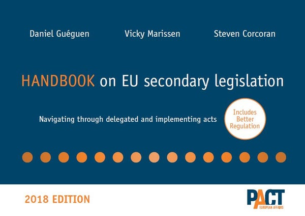 Image of Handbook on EU Secondary Legislation – 2018 EDITION