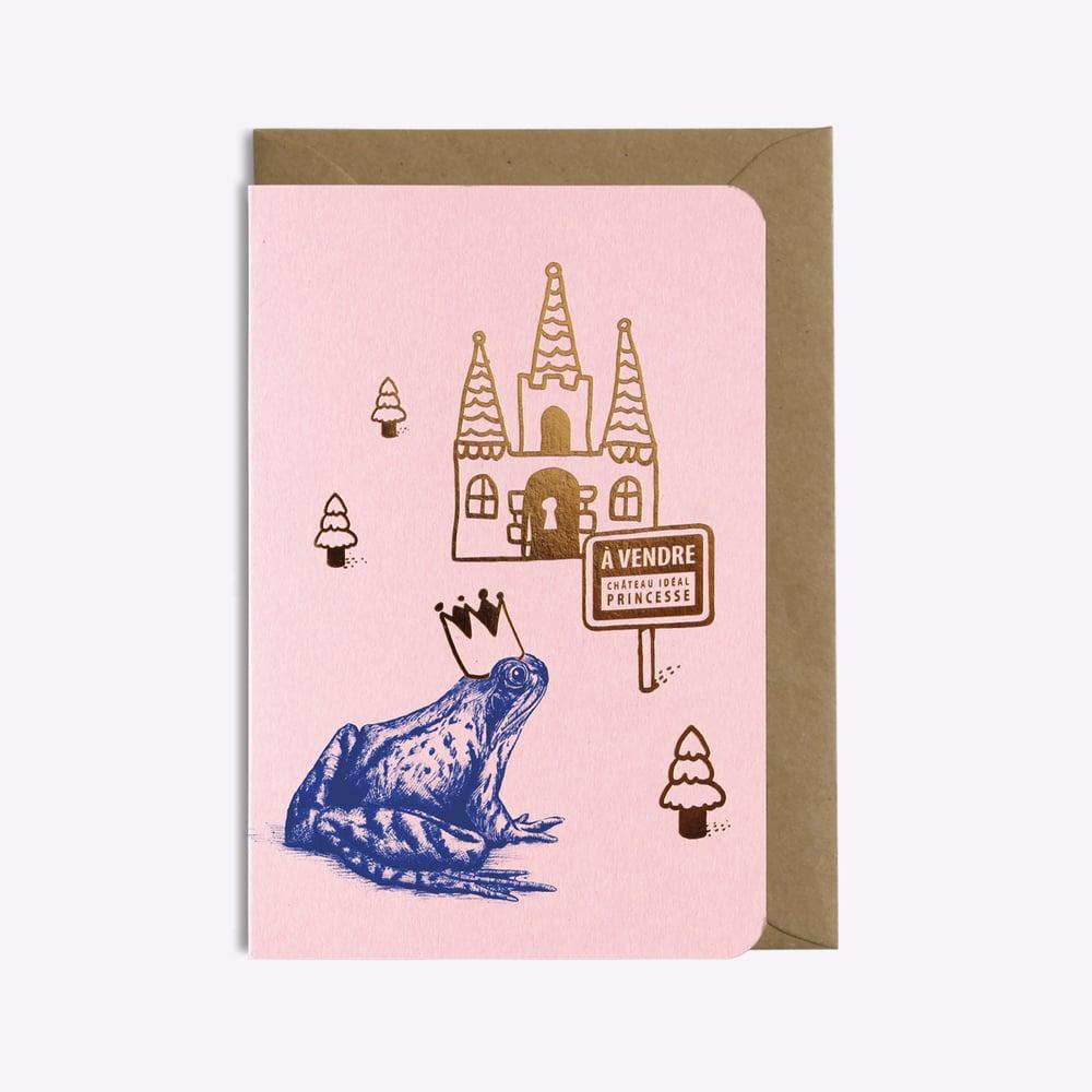 "Image of CARTE ""A VENDRE CHATEAU IDEAL PRINCESSE"" ROSE"