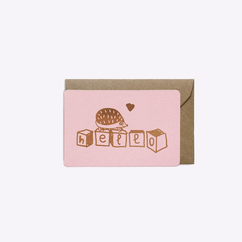 Image of MINI-CARTE CUBES HELLO ROSE