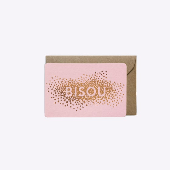 Image of MINI-CARTE CONFETTIS BISOU ROSE
