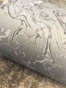 Image of *NEW* Luana Stone Effect Marbled Paper on Grey Base Paper