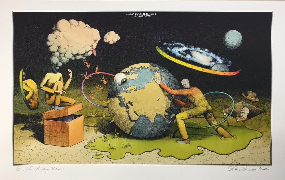 """Image of Waone Interesni Kazki """"The Planetary Motion"""" Hand Painted"""