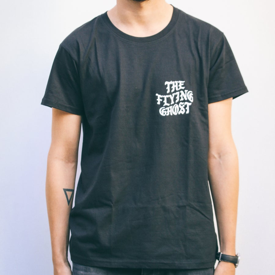 """Image of CLASSIC """"THE FLYING GHOST"""" T-SHIRT BLACK"""