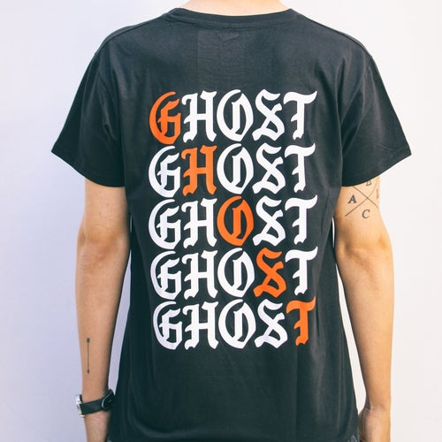 "Image of CLASSIC ""THE FLYING GHOST"" T-SHIRT BLACK"