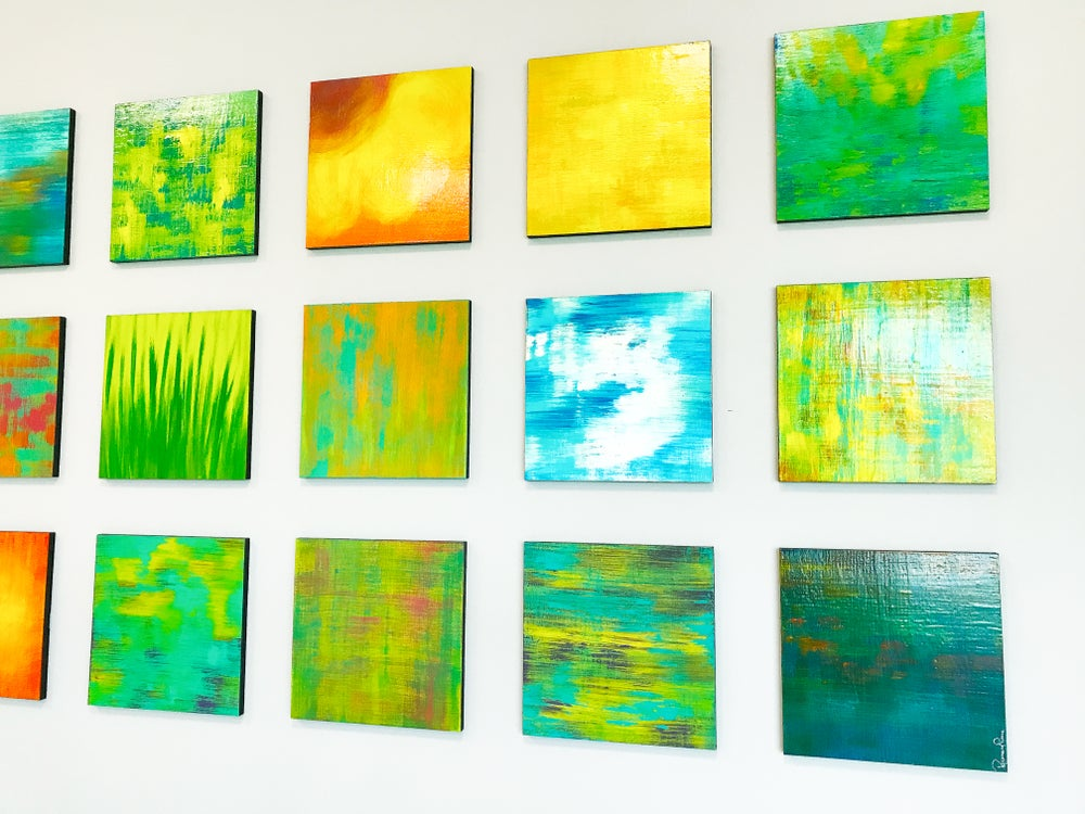 Image of 'NATURE IN ABSTRACT' | Abstract Paintings | Colorful Wall Art | Wood Wall Art | Nature Inspired Art