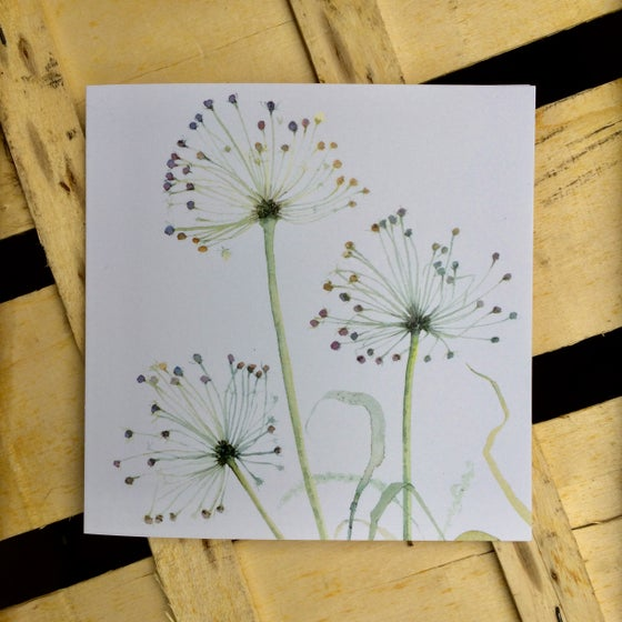 Image of Three Allium Greetings Card