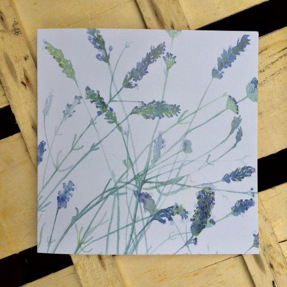 Image of Lavender Greetings Card