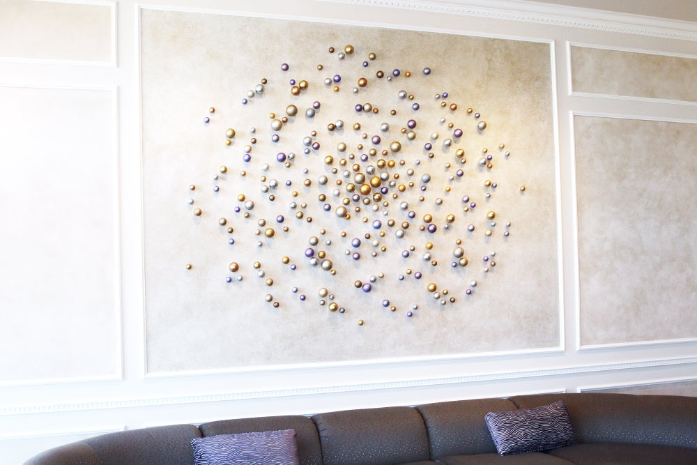 Image of 'SYMPHONY OF SPHERES' | Large Wall Art | 3D Wall Art | Wall Sculpture | Large Wall Art | Custom Art