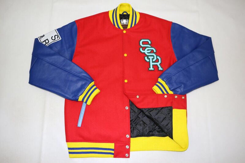 Image of S S R Varsity Leather Jacket