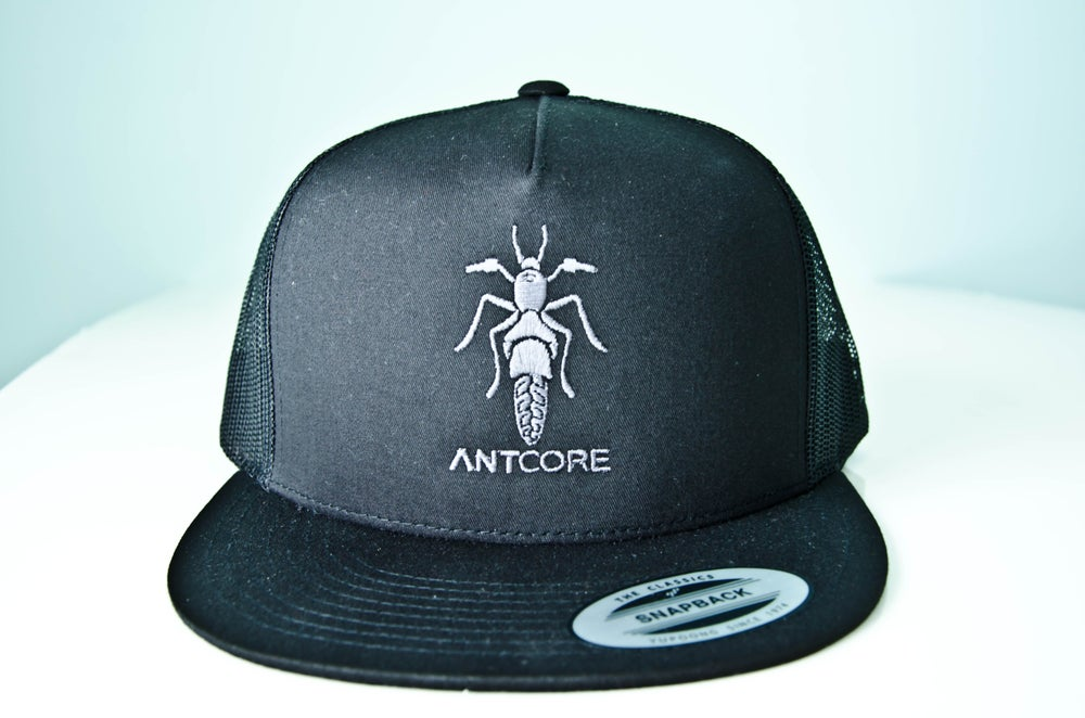 Image of BLACK TRUCKER HAT - ANTCORE
