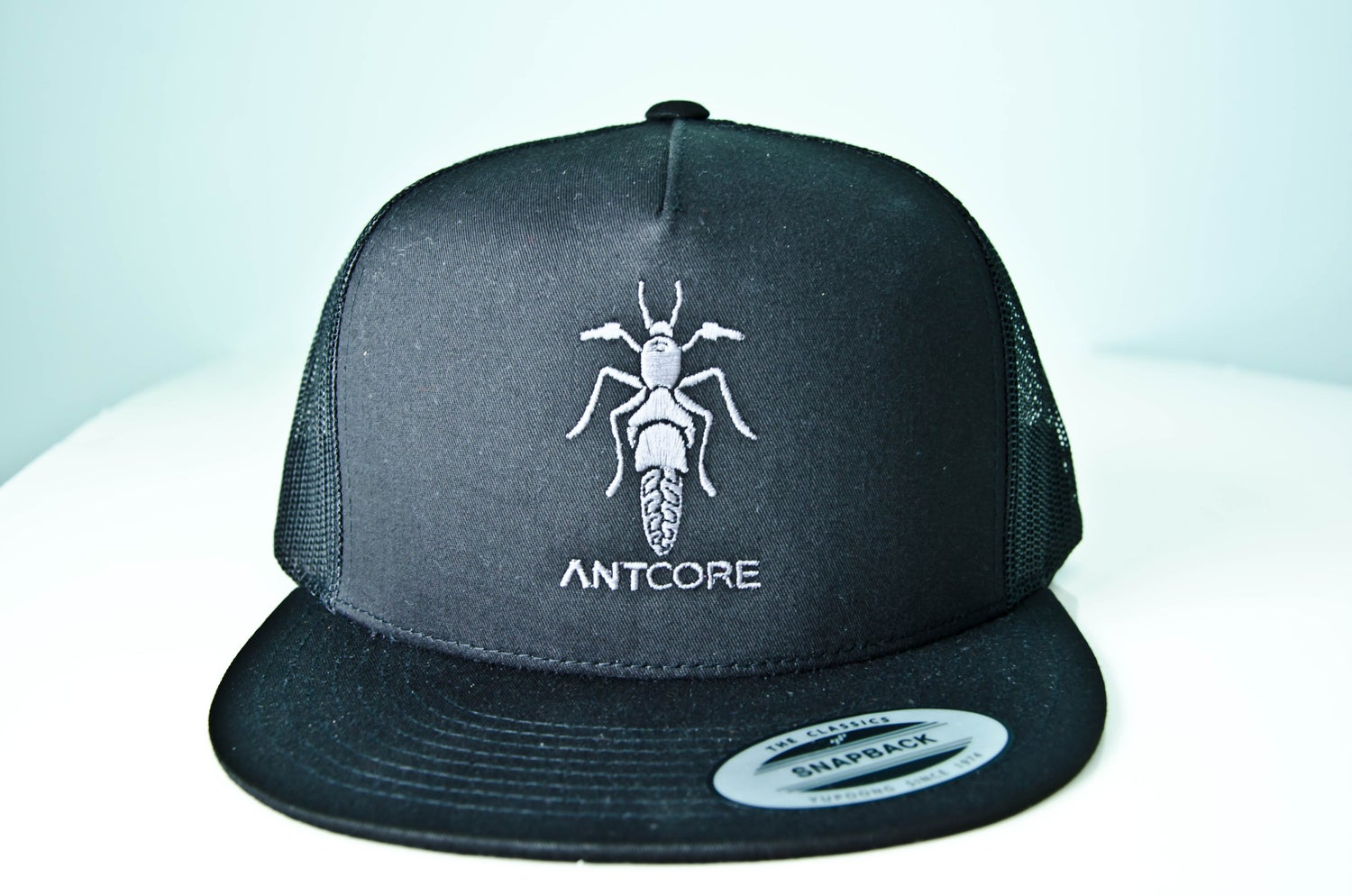 Image of BLACK TRUCKER HAT - ANTCORE